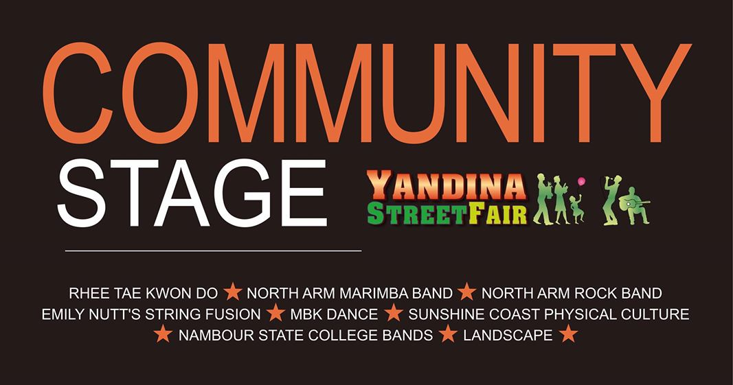 Yandina Street Fair entertainment on Community Stage