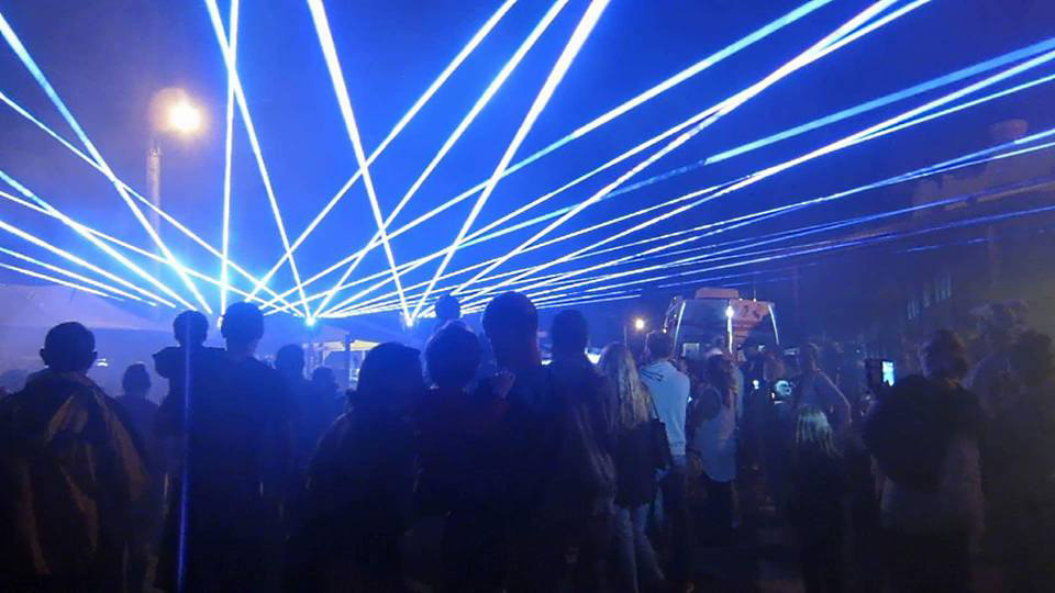 Yandina Street Fair 2015 laser light show